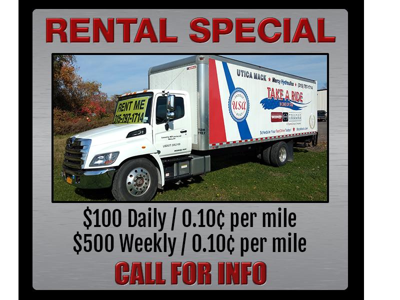 mack truck rental special